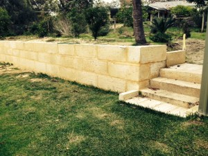 Another limestone wall project by Purcell's Earthmoving Perth