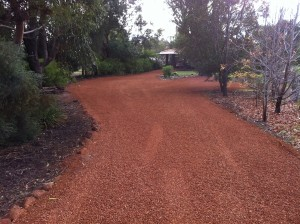 Crushed pea gravel driveway by Purcell's earthmoving SOR Perth WA